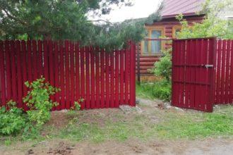 Забор из двухстороннего штакетника, Фото, №41, Евроштакетник двухсторонний
