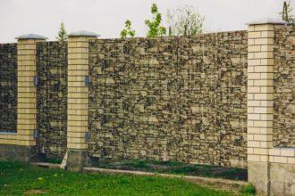 Забор из профнастила двухстороннего, Фото, №32, Заборы из профнастила под камень