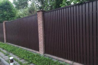 Забор из профнастила двухстороннего, Фото, №18, Забор  из профнастила  2,2 метра