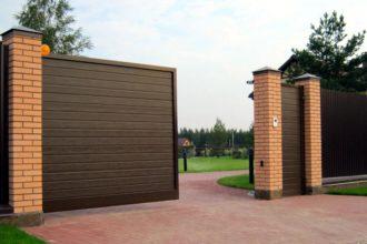Откатные ворота из штакетника, Фото, №3, Автоматические откатные ворота