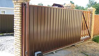 Механические откатные ворота, Фото, №1, Механические откатные ворота