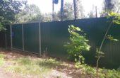 Забор из зеленого профнастила, Фото, №4