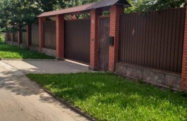 Забор из профнастила двухстороннего, Фото, №0