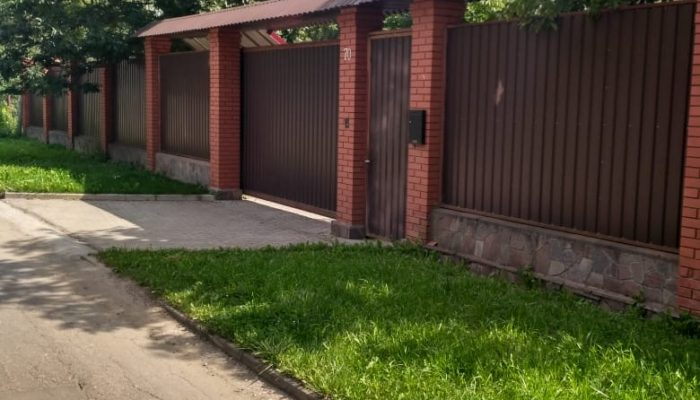 Забор из профнастила двухстороннего, Фото, №11