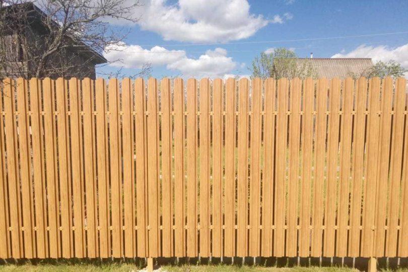 Забор из штакетника под дерево, Фото, №1