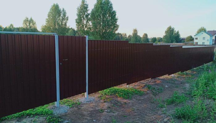 Забор из профнастила высотой 3 метра, Фото, №8