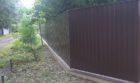 Забор из профнастала на ленточном фундаменте, Фото, №8