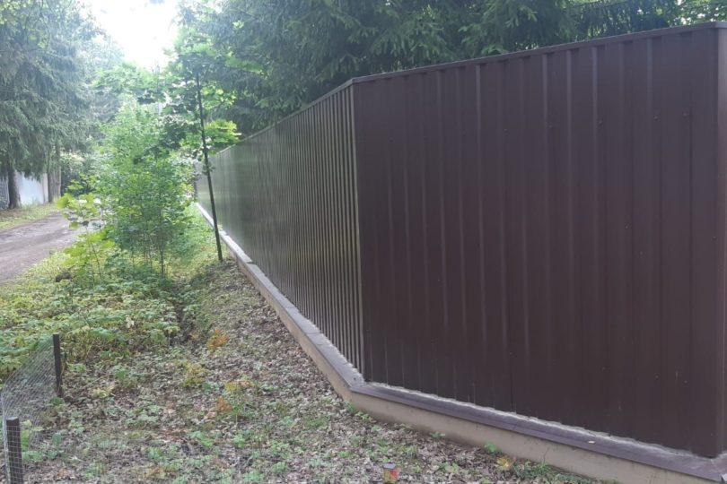 Забор из профнастала на ленточном фундаменте, Фото, №2