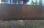 Забор из профнастила высотой 1.8 метра, Фото, №4