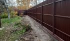 Забор из профнастала на ленточном фундаменте, Фото, №9