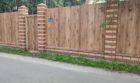 Забор из профнастала под дерево, Фото, №9
