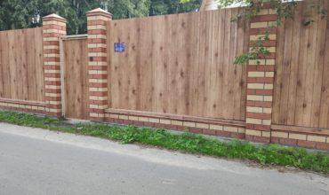 Забор из профнастала под дерево, Фото, № 13