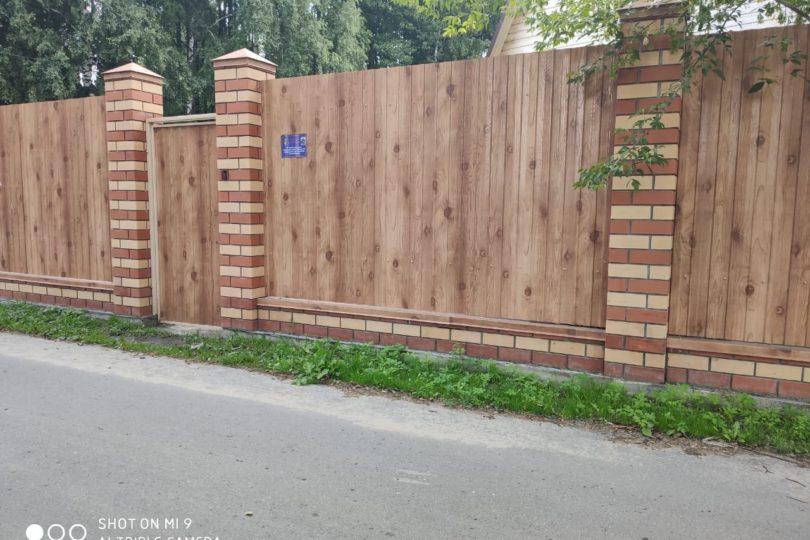 Забор из профнастала под дерево, Фото, №3