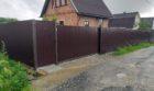 Забор из профнастала на ленточном фундаменте, Фото, №10