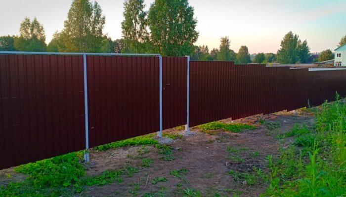 Забор из профнастила высотой 2.2 метра, Фото, №8
