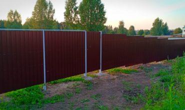 Забор из профнастила высотой 3 метра, Фото, № 1