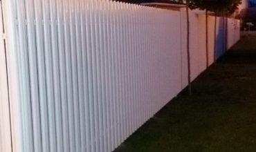 Забор из белого штакетника, Фото, № 18