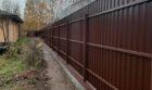 Забор из профнастала на ленточном фундаменте, Фото, №11