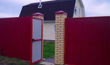 Забор из профнастила высотой 1.8 метра, Фото, № 1