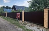 Забор из профнастила высотой 3 метра, Фото, №4