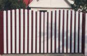 Забор из белого штакетника, Фото, №17