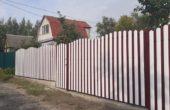 Забор из белого штакетника, Фото, №13