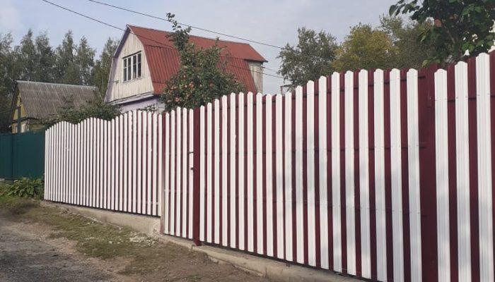 Забор из белого штакетника, Фото, №18