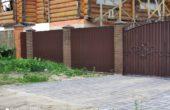 Забор из одностороннего профнастила, Фото, №3