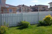 Забор из белого штакетника, Фото, №16