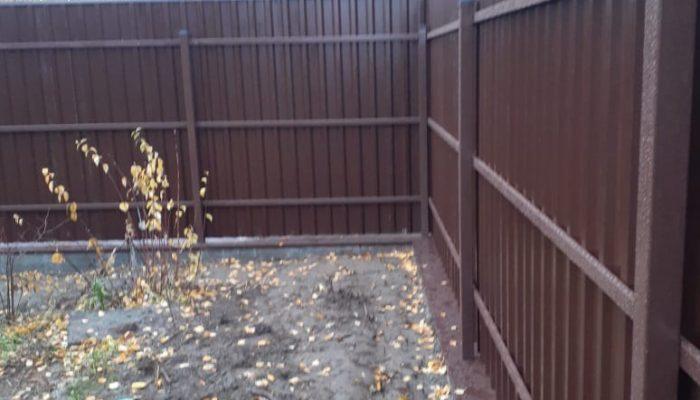 Забор из профнастила высотой 1.8 метра, Фото, №8