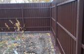 Забор из профнастила высотой 1.5 метра, Фото, №3