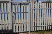 Забор из белого штакетника, Фото, №12