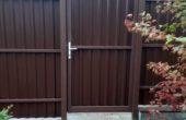 Забор из одностороннего профнастила, Фото, №5