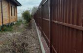 Забор из коричневого профнастила, Фото, №11