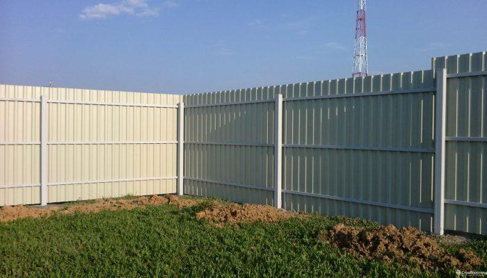 Забор из белого профнастила, Фото, №6