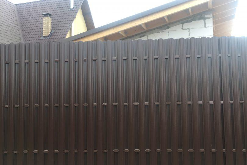 Забор из штакетника с ленточным фундаментом, Фото, №6