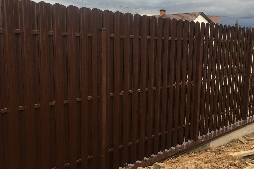 Забор из штакетника с ленточным фундаментом, Фото, №3