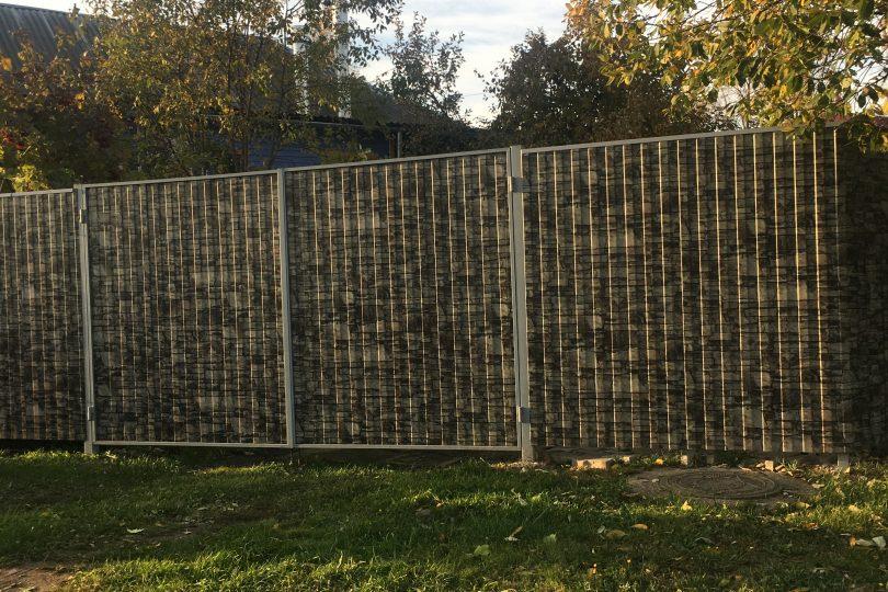 Забор из профнастила под камень, Фото, №5