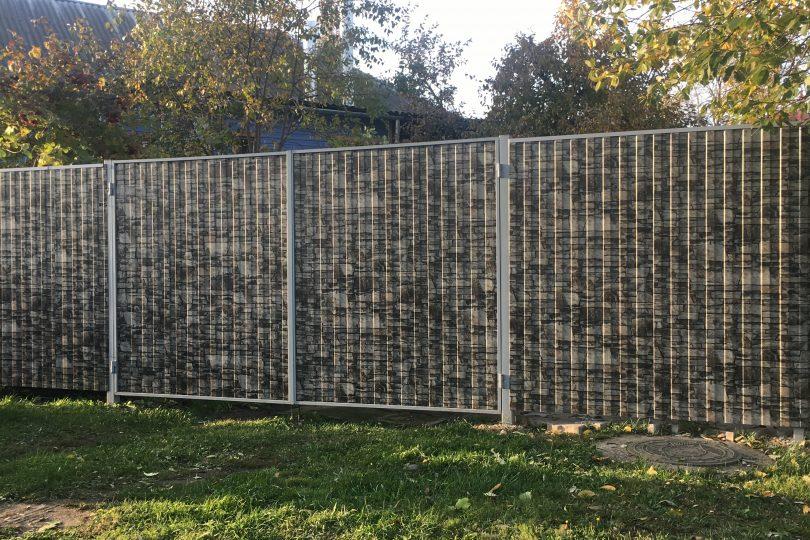 Забор из профнастила под камень, Фото, №4