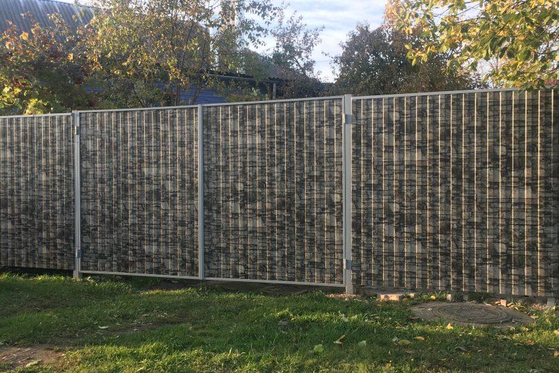 Забор из профнастила под камень, Фото, №3