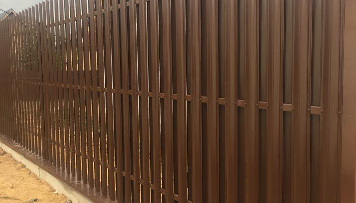 Забор из штакетника в шахматном порядке, Фото, №15