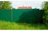Забор из зеленого профнастила, Фото, №3