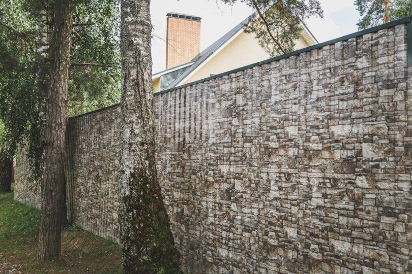 Забор из профнастила под камень, Фото, №1