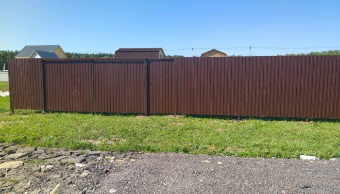 Забор из профнастила высотой 1.5 метра, Фото, №8