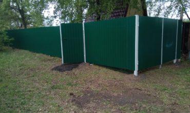 Забор из зеленого профнастила, Фото, № 5