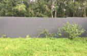 Забор из серого профнастила, Фото, №5