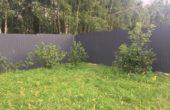 Забор из серого профнастила, Фото, №6