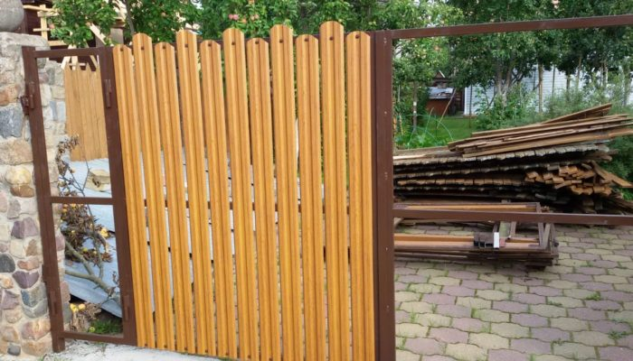 Забор из двухстороннего штакетника, Фото, №39
