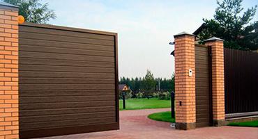Откатные ворота из штакетника, Фото, №1