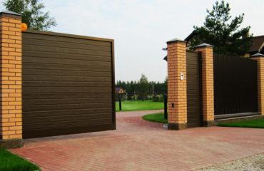 Механические откатные ворота, Фото, №1